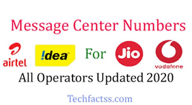Message Center Numbers