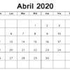 Calendário Abril 2021 para Imprimir Notas
