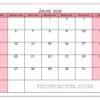 Calendário Julho 2021 para Imprimir Notas