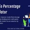 SGPA To Percentage Calculator | Convert SGPA to Percentage