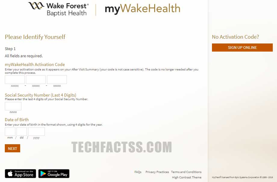 MyWakeHealth Login